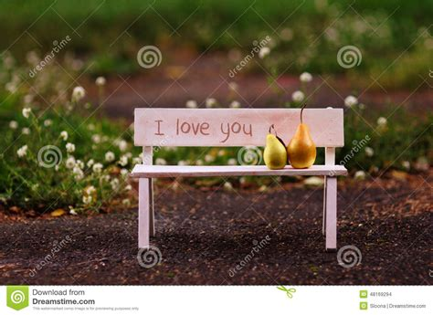 bench love i love you love couple sitting on the bench stock photo