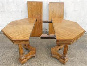Pedestal Dining Room Table Octagonal Light Oak Extending Pedestal Dining Table To