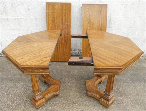 Octagon Kitchen Table by Octagonal Light Oak Extending Pedestal Dining Table To