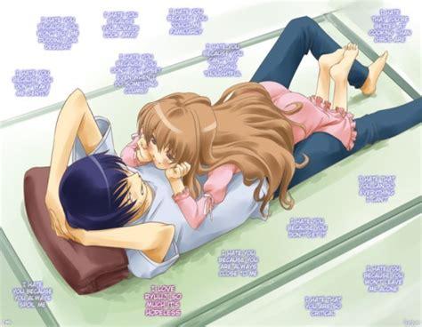 anime couple in bed ryuuji x taiga toradora fan art 5015912 fanpop