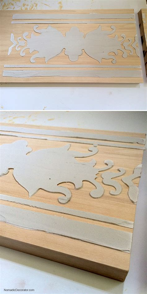 chalk paint joint compound diy projects with stencils archives nomadic decorator