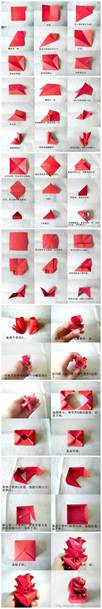 How To Make Paper Roses Step By Step With Pictures - the gallery for gt how to fold origami step by step
