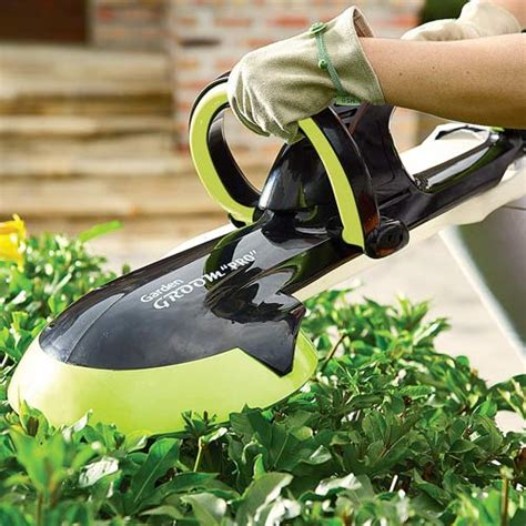 Garden Groom Pro garden groom pro lightweight rotary blade hedge trimmer the green