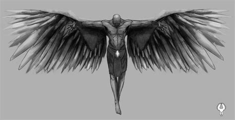 fallen angel tattoo design design by tomedwardsconcepts on deviantart