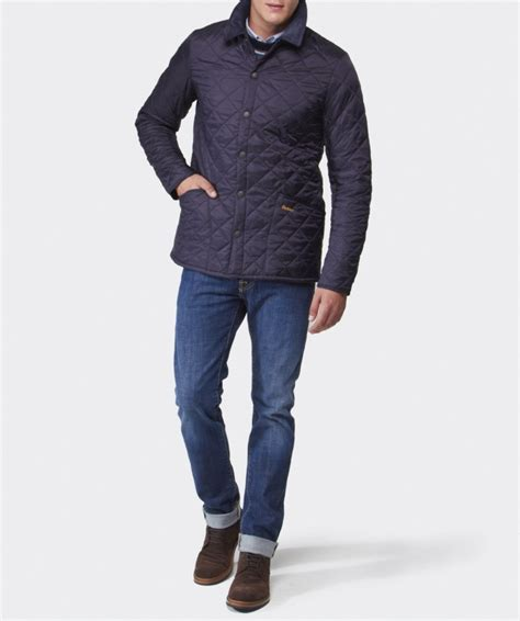 Barbour Quilted Liddesdale Jacket by Barbour Heritage Liddesdale Quilted Jacket In Blue For