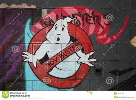 ghost graffiti editorial photo image