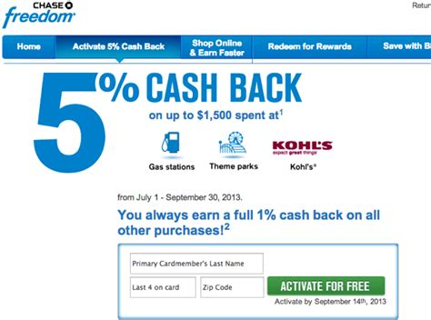 Chase Freedom Gas Station Gift Cards - chase freedom 5x for restaurants last 2 days and activate q3 5x bonus categories
