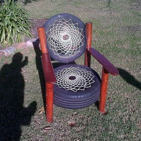 How To Make A Tire Chair by Tire Chair Crafty Cool Ideas