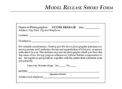 modeling 101 a model's diary: the model release form