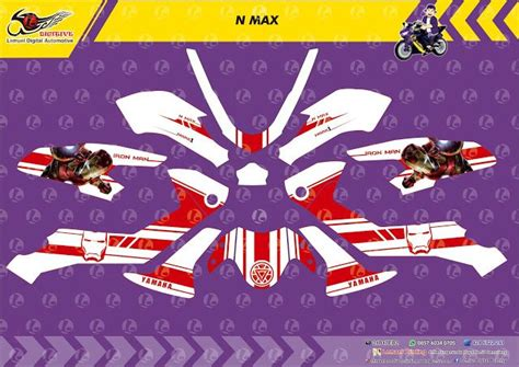 Custom Decal N Max custom decal vinyl striping motor yamaha n max