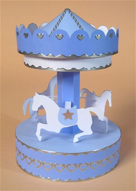 How To Make A Carousel Out Of Paper - a4 card templates 3d opening carousel display