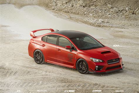 Red Herring Subaru WRX STI   ADV.1 Fish   ADV.1 Wheels