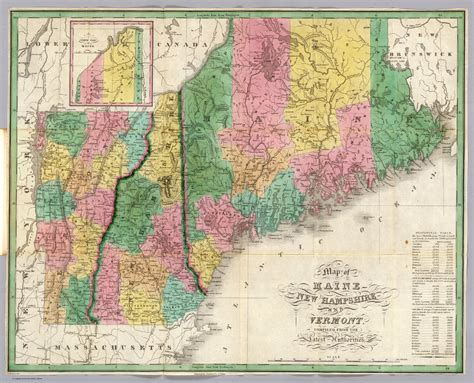 new hshire maine map new hshire and maine images