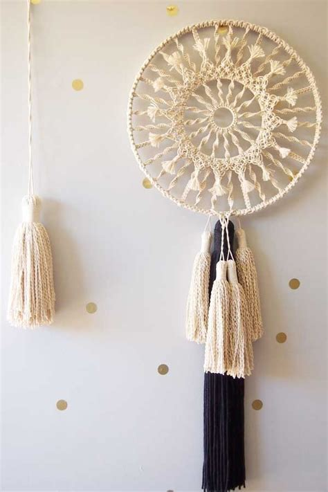 macrame dream catcher hmm macrame back in vogue this macrame dreamcatcher by