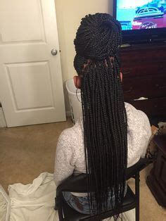 small braids around the face long neat small box braids jaida pinterest small