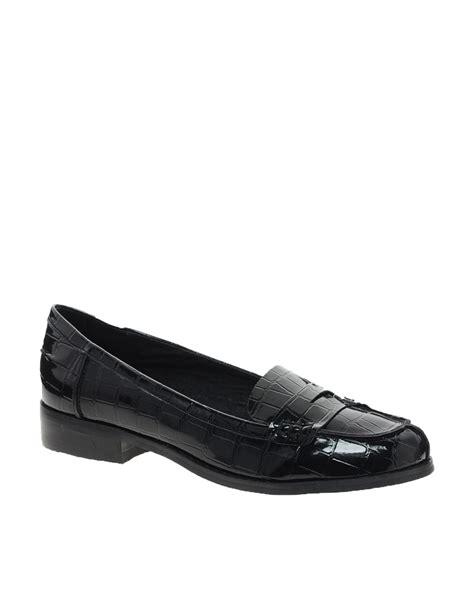 aldo loafers aldo aldo monas croc loafer in black lyst
