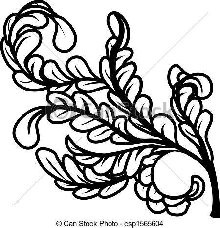 imagenes de hojas a blanco y negro eps vector de blanco negro hojas un negro y blanco