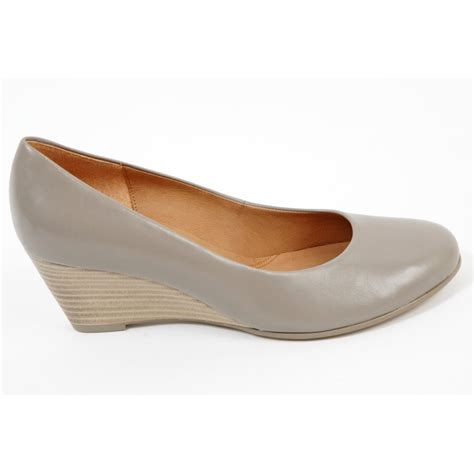 sole shoes gabor shoes thelma wedge sole shoe in taupe mozimo