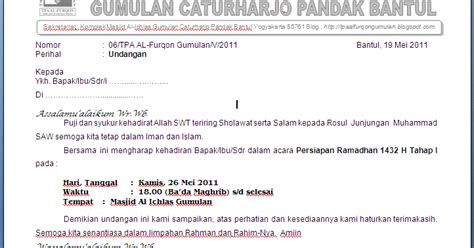 contoh undangan resmi mur s