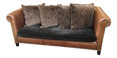 ralph lauren leather sofa ralph lauren brompton leather sofa chairish