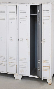 vintage used metal storage cabinet sport cabinet wardrobe