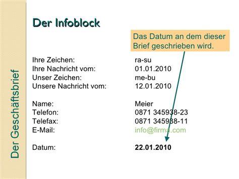 Briefschluss Anfrage Der Gesch 228 Ftsbrief