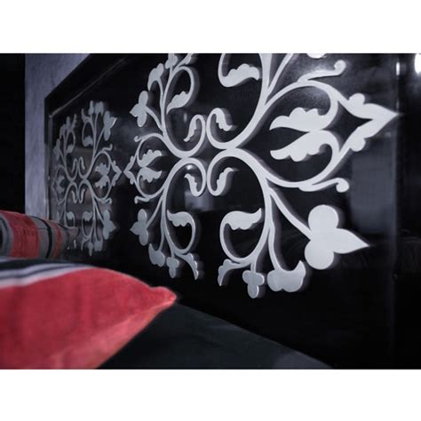 white and black headboard black gloss and white detail king size headboard