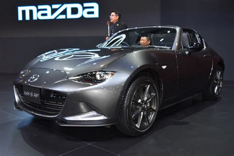 mazda foreign mazda mx 5 rf showcased at bims 2017 indian autos