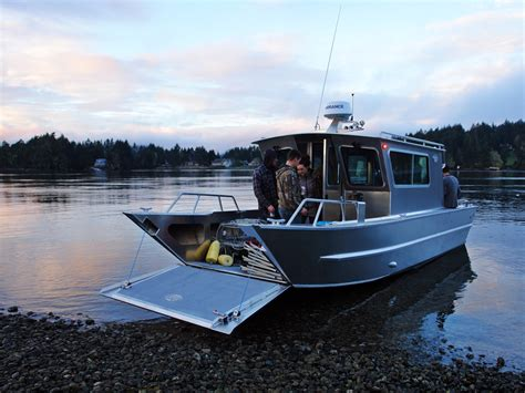 lake cabin boats for sale 25 san juan landing craft cabin aluminum boat by silver