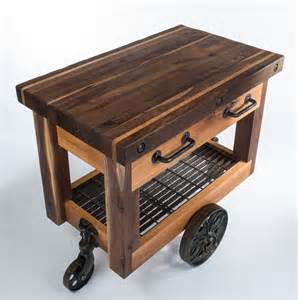 outdoor kitchen carts and islands butcher s block cart