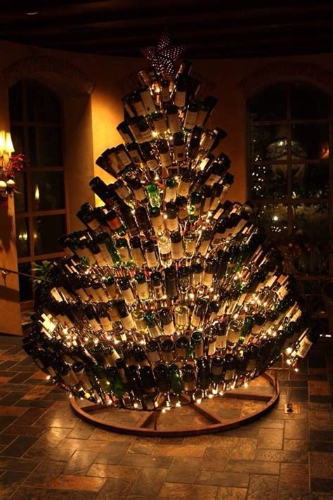 wine bottle tree christmas pinterest