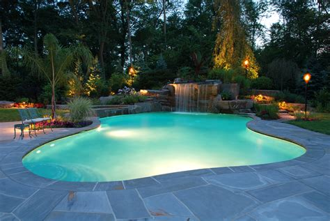 Backyard Pool Lighting Best Swimming Pool Deck Ideas