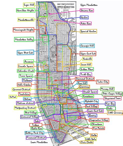 map of nyc neighborhoods file manhattan neighborhoods png
