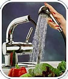 aquatouch aqua touch chrome kitchen faucet with pullout