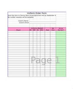 Excel Forms Template by Excel Order Form Template 15 Free Excel Documents