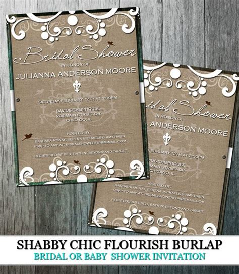 country chic bridal shower invites rustic burlap bridal shower country chic with flourishes and