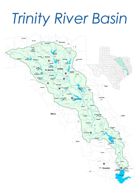 texas watershed map river basin waters