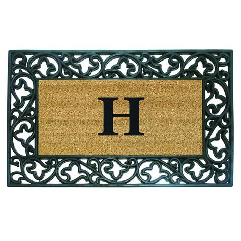 Monogram Doormat Ideas For Decorating With Monograms Newlywed Survival