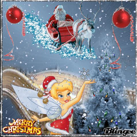 tinkerbell christmas picture  blingeecom