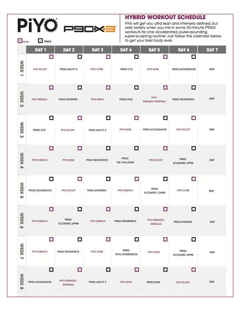 best 25 piyo workout calendar ideas on piyo