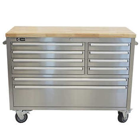 rolling tool bench trinity 48 quot stainless steel rolling workbench
