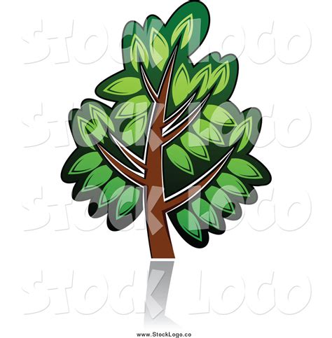 Vector Clipart Of A Green Tree Logo By Vector Tradition Sm 6526 Green Tree Logos Vector Graphic 01 Vector Logo Free