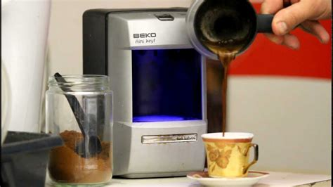 How to make Turkish coffee?Turk Kahvesi nasil yapilir? Machine à café turc Keyf de BEKO   YouTube