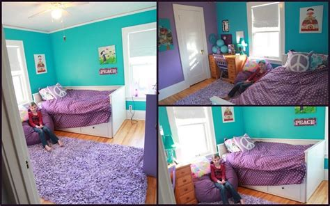 purple and turquoise bedroom tween bedroom makeover turquoise and purple bedroom