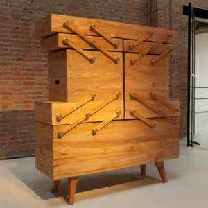 Armchair Caddy Storage Unusual Sewing Box Cabinet With A Tricky Mechanism Digsdigs