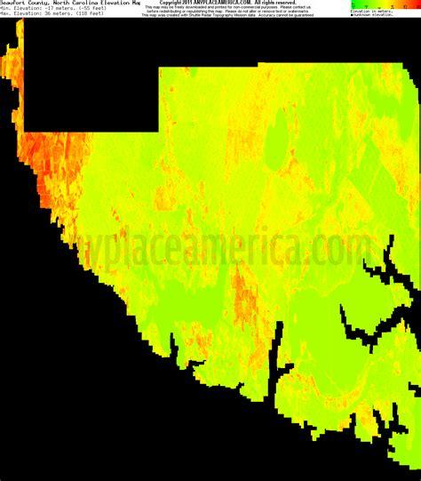 carolina elevation map free beaufort county carolina topo maps elevations