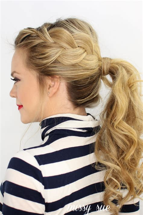 Wedding Hairstyles Side Pony With Braid by Side Braid Ponytail S World