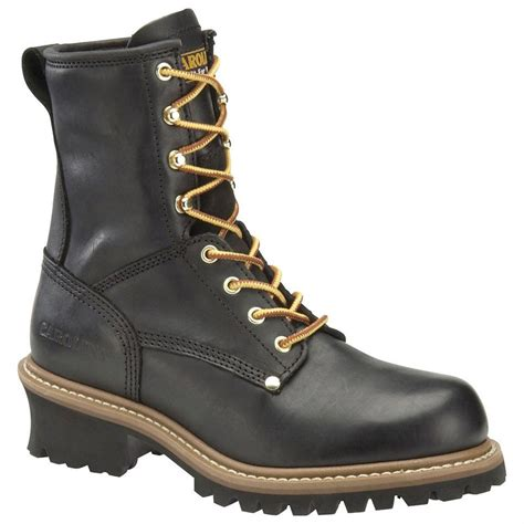 mens steel toed boots s carolina 174 8 quot steel toe logger boots black 227376