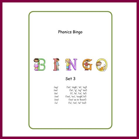 L Oi by Bingo Oi L S G N Set 3 Spellzoo