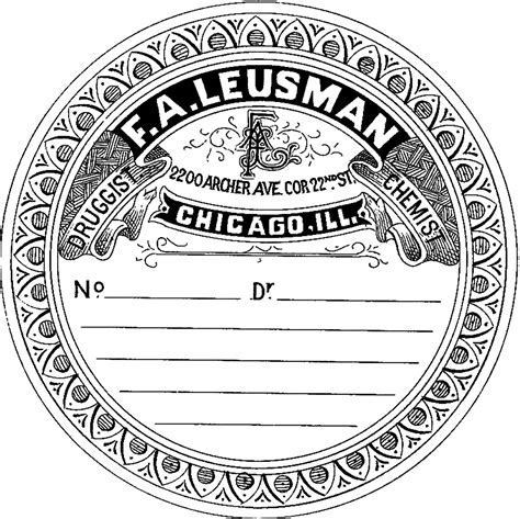 vintage clip art french label anchor round frame vintage pharmacy label round the graphics fairy